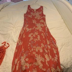 sundance floral maxi dress